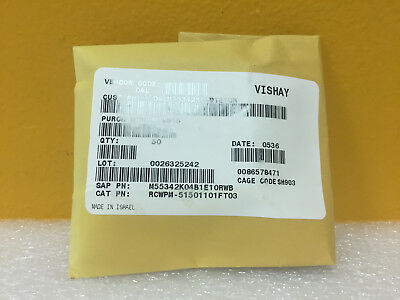 Vishay Rcwpm-5150 M55342k04b1e10rwb Lot Of 50 Thick Film Chip Resistors. New