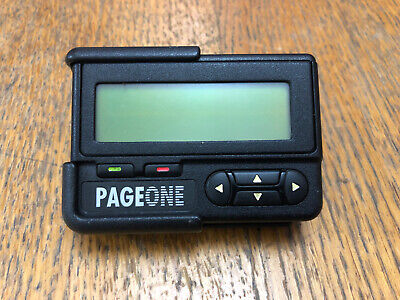 Rare Motorola Page One pager beeper with case Free Postage