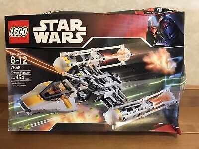 NIB Lego 7658 Star Wars Y-Wing Fighter Ship Set 2007 NEW