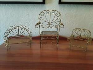 3 Small teddy/dolls chairs 55 the lot