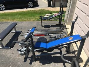 WEIGHTS DUMBBELLS BARBELL BENCH PRESS - Pickering