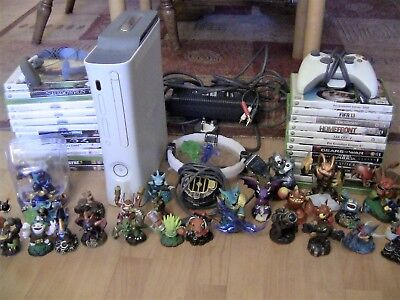 Xbox 360 bundle 25+ games, headset, skylanders, wireless controller and more