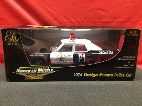 American Muscle 1974 Dodge Monaco  Mount Prospect Police Car NEW IN BOX