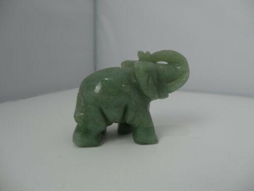 Vintage Green Jade Elephant Figure Statue Figurine Small