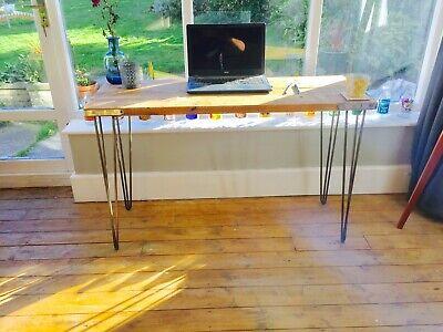 Reclaimed Wood Laptop Desk Scaffolding Vintage Hairpin Legs