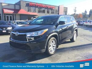 2014 Toyota Highlander LE, One Owner Lease Return