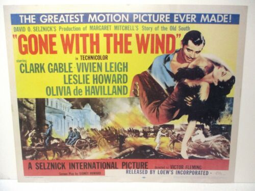 Gone with the Wind 1954 re-release B Style Half Sheet Original Poster