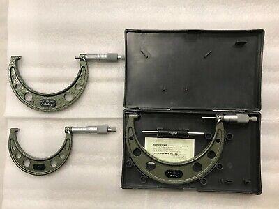 Mitutoyo Micrometer Carbide Tip. 3 Pcs. 1 Lot.