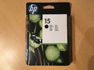 original HP15 Black Schwarz C6615DE Tintenpatrone 06/2016 Rechnung inkl. MwSt ()