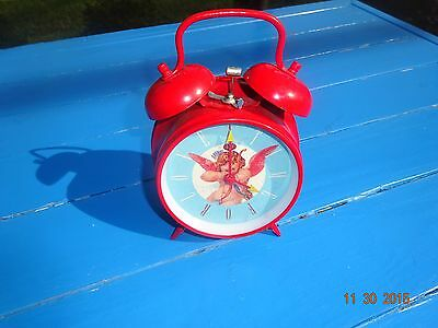 Macy's Retro Alarm Clock Angel Nostalgic Art Style Twin Bells Home Office (Angel Alarm Clock)