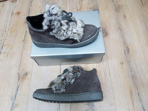 Gabor Damen Stiefel Winterstiefel Stiefeletten warm mit Kunstfell gr.42 Boots
