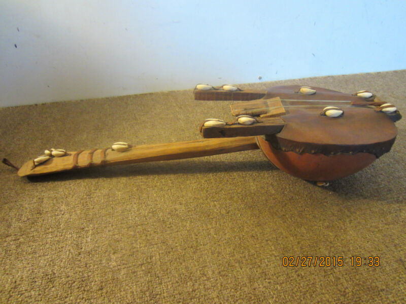 ANTIQUE HAND MADE SEASHELL MUSICAL INSTRUMENT