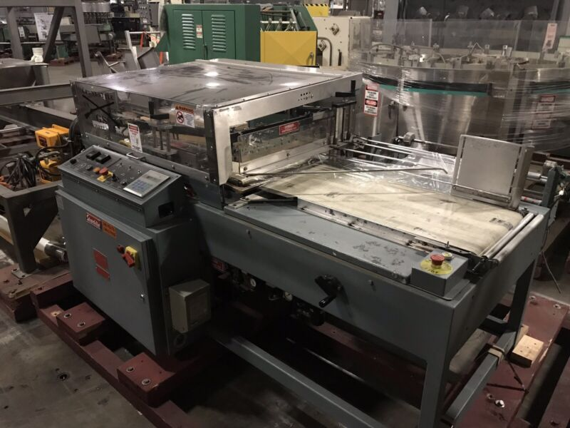Shanklin A27A Automatic L-Bar Sealer with Salvage Winder Unit