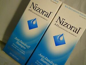 Nizoral A-D Anti-Dandruff Anti-Dandruff Shampoo 4 fl oz each (2pk) fresh & new