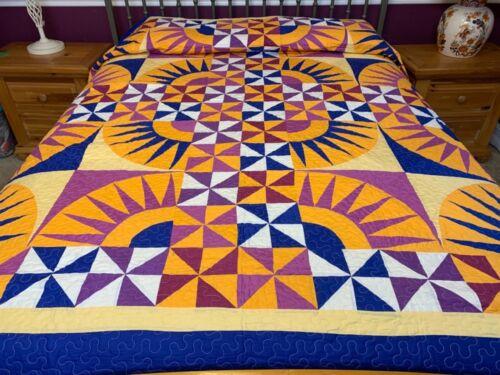 Queen size  New York beauty  patchwork quilt #J-37