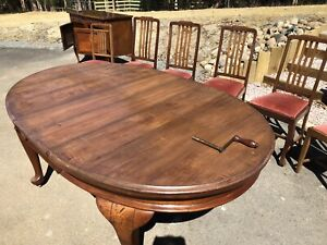 Antique Blackwood wooden dining table