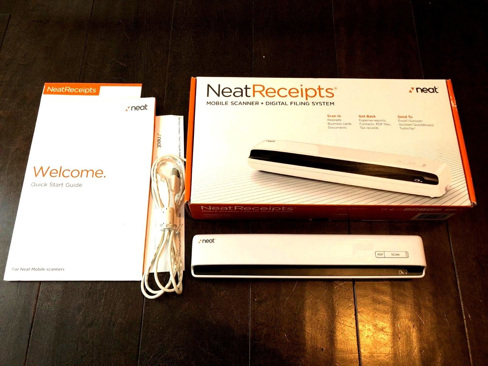 NeatReceipts NM-1000 Mobile Scanner-Digital Filing System Complete & Oh So Neat!