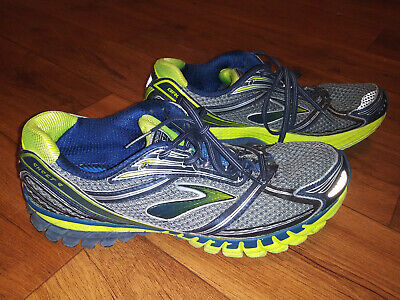 Brooks Ghost 6 Mens Size 12 Blue Lime