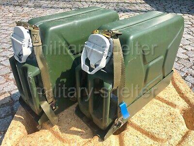 Kanister Einheit (2 x Kanisterhalter 20 Liter mit Wasserkanister/ Bundeswehr / Einheitskanister)