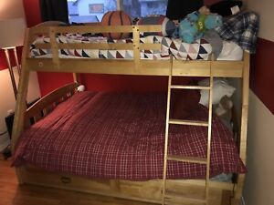 Double kids bunk bed