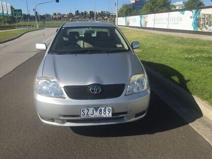 2004 Toyota Corrolla rwc rego warranty low kms
