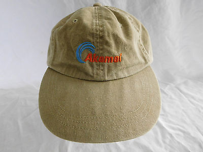 Akamai Technologies Baseball Cap Dad Hat Leather Strapback Internet