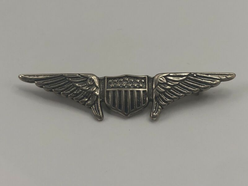 WWI Original Pilots Wings Blackinton Sterling Marked