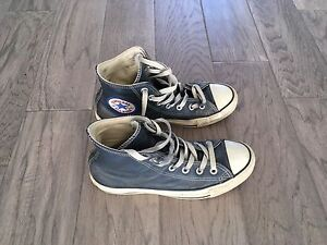 Cool Blue Leather Converse