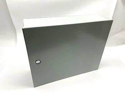Hoffman A16n20alp 85950 Gray 16 X 20 X 8 Steel Enclosure With Hinge Cover
