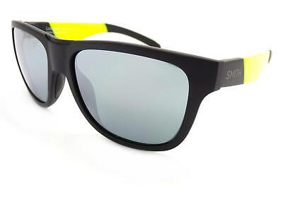 Smith Sonnenbrille Lowdown Slim Matt Black Acid Gelb/Chromapop Spiegel Pgc Xb