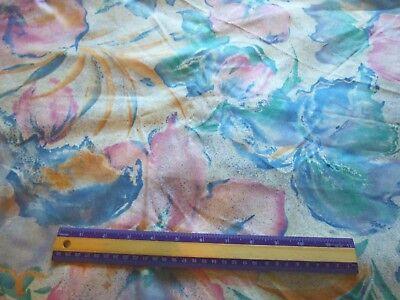 Margin Designs Cotton Decorating Fabric  Blended Floral  Dupont Teflon 43 X56