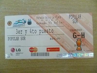 Org* Tickets-Copa America Argentina 2011 Playoff Match- PERU v VENEZUELA,23 July