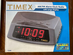 Timex AM/FM Alarm Clock Radio Model T229B Large Display Vintage NOS
