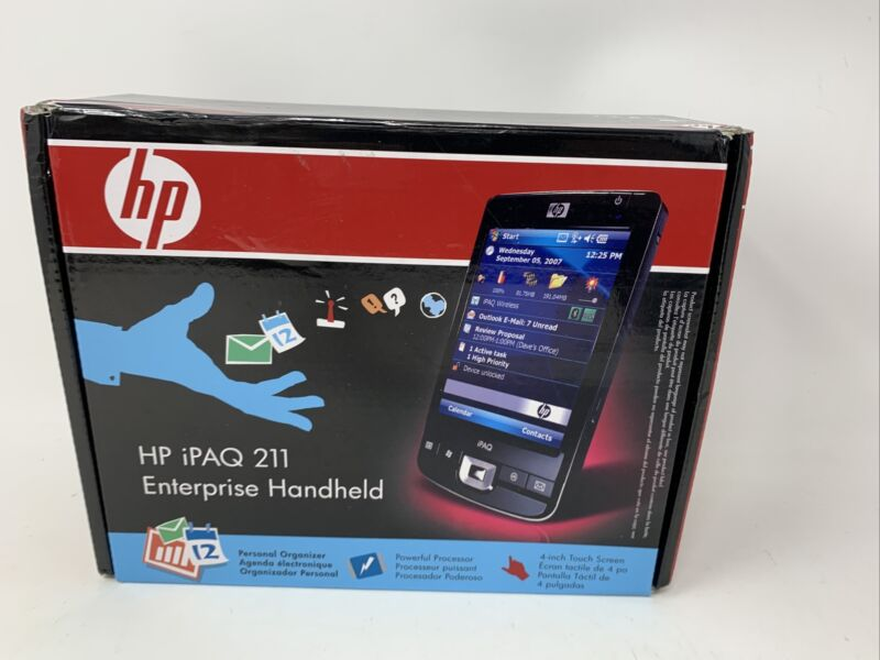 HP iPAQ 211 Enterprise Handheld PDA - Nice condition - WiFi Bluetooth
