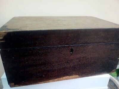 Antique WRITING SLOPE damaged plenty wear and tear 38 x18 cm