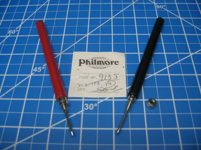 Philmore Test Probes - Model 912J&913J - Solderable/Solderless 1 Pair Red/Black