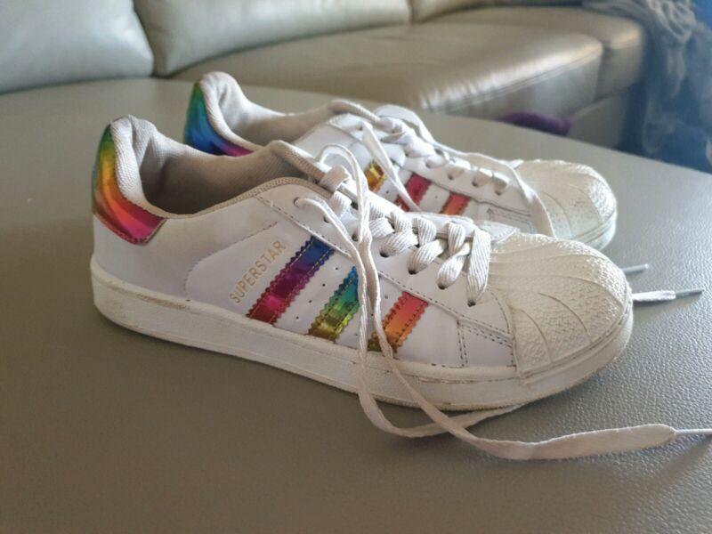 Rainbow Superstars ADIDAS shoes | Women's Shoes | Gumtree