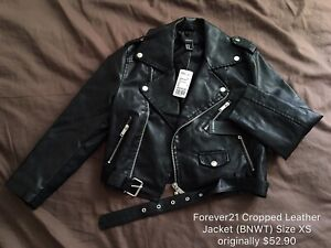 Forever21 Leather Jacket Size XS $53 Selling for $25