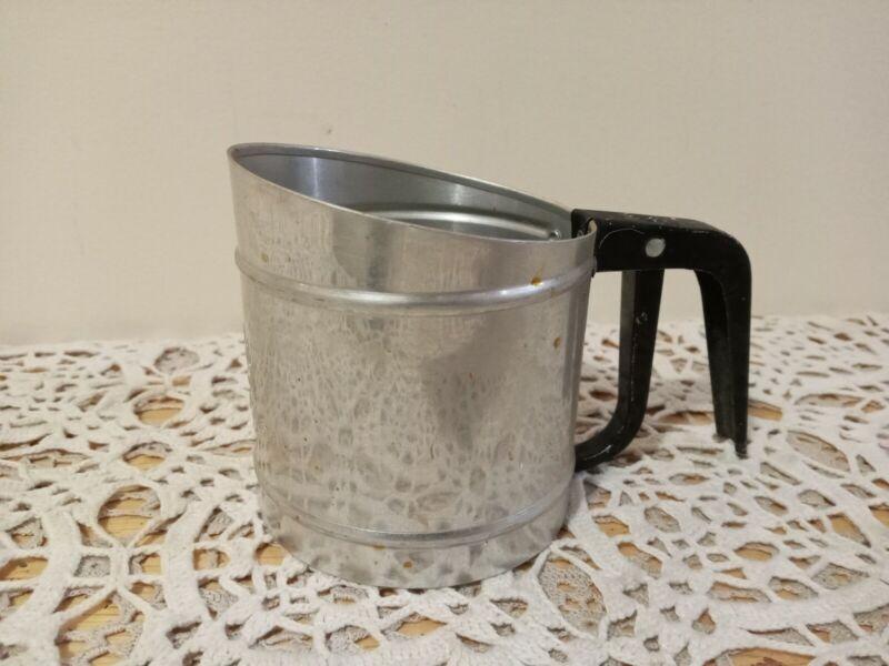 Vintage Foley Metal Flour Sifter Hand Held Kitchen Utensil