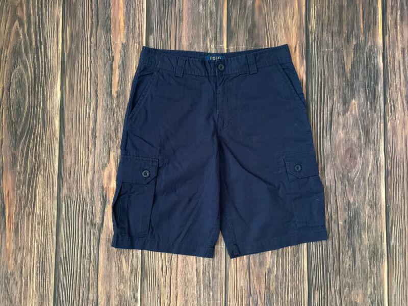 Boys Polo Ralph Lauren Blue Causal Cargo Shorts Size 16 NEW
