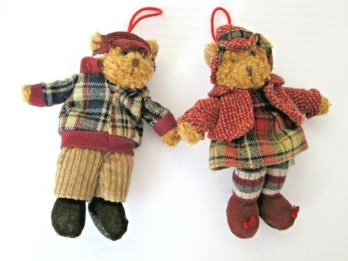 RUSS ALPINE TEDDIES Stuffed Plush Mini 2 TEDDY BEARS Toy Boy Girl Christmas XMAS