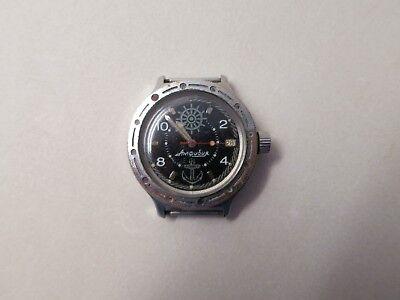 Vintage Russian Diver Watch Navy Military Watch Vostok Amphibian