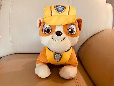 Paw Patrol Dog Collar (Paw Patrol Talking Rubble Dog Puppy Plush Toy Yellow 10