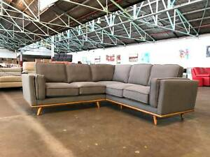 NEW ARRIVAL - ROWLEY FABRIC CORNER LOUNGE TIMBER LEGS Dandenong South Greater Dandenong Preview