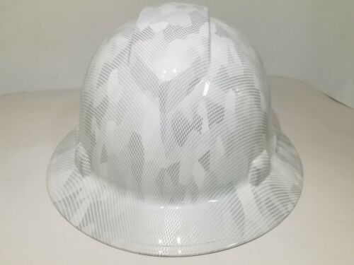 FULL BRIM Hard Hat custom hydro dipped, NEW  MILITARY ANTARCTICA DIGITAL CAMO