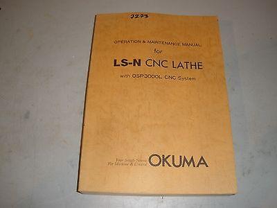 Okuma Ls-n Cnc Lathe Osp 3000l Control Maintenance Operation Manual