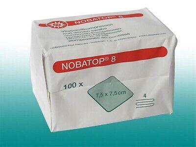 500 Vliesstoffkompressen unsteril NOBA 7,5x7,5cm Sparpack
