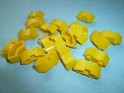 Lego 224 50er Steine gelb 50s 20 2x2 Curved Bricks vintage mursten
