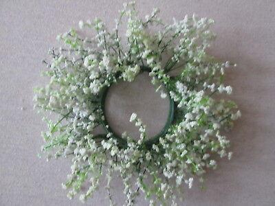 Schleierkraut Gypso Dekokranz 23cm Künstliche Kunst Pflanzen Kunst Blumen Blüten