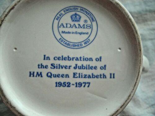 "6"" PITCHER.  1977 SILVER JUBILEE - QUEEN ELIZABETH II.  QEII & Prince Philip"